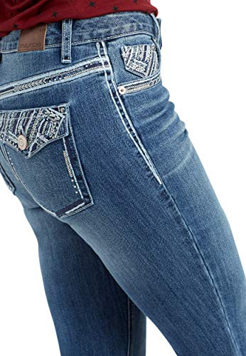 Pocket Embellished Bootcut Jeans - maurices Women's Denimflex Bootcut Jean - Bling Back Pocket Mid Rise
