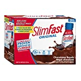 Slim Fast Original Meal Replacement or Weight Loss Ready to Drink Shakes with 14g of Protein, 4g of Fibre Plus 23 Vitamins and Minerals, Chocolatey Royal, 8 Bottles x 325ml (3 Packs = 24 Bottles)