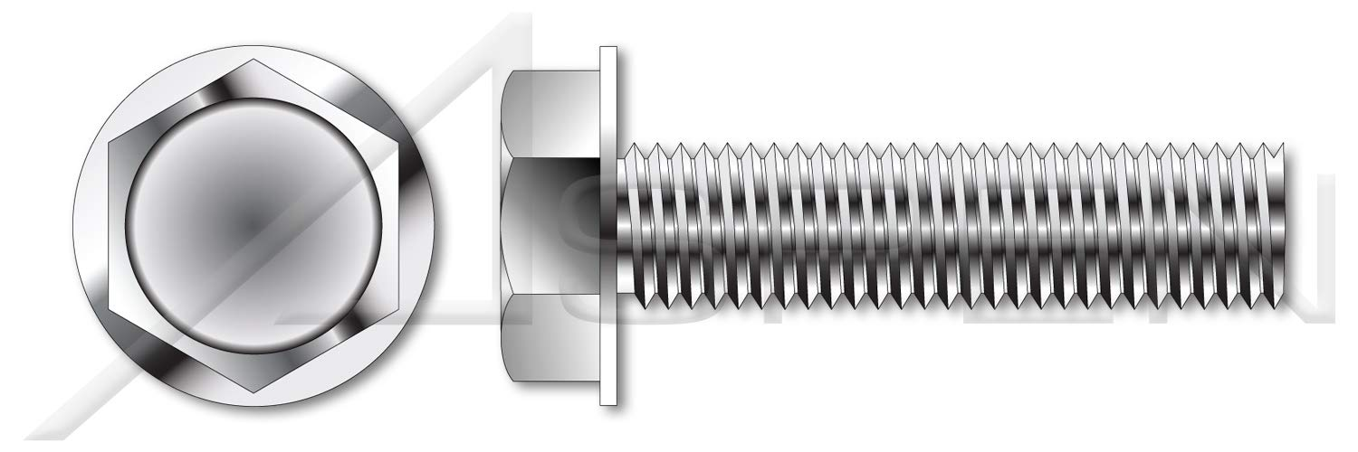 (100 pcs) 5/16''-18 X 2'', Taptite Alternative Thread Rolling Screws, Hex Indented Washer Head, 410 Stainless Steel, Passivated and Waxed by ASPEN FASTENERS