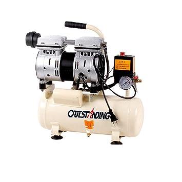 compresor de Aire silencioso Bomba de Aire Aire sin Aceite 550w -8L: Amazon.es: Hogar