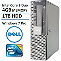 Dell Optiplex 960 SFF Business High Performance Desktop Computer PC (Intel Dual Core CPU 3.0GHz, 4GB Memory, 1TB HDD, DVDRW, VGA, Windows 7 Professional) (Certified Refurbished)