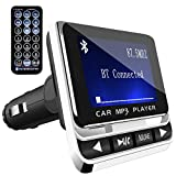 FM Transmitter, Tohayie Bluetooth Wireless Radio Adapter Audio Receiver Stereo Music Tuner Modulator Car Kit with USB Charger, Remote Control