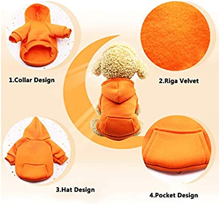 Befx Dog Clothes Pet Dog Hoodies Coat Soft Fleece Warm Puppy Clothes for Small Dogs Vest Chihuahua Clothes Coat Jacket Sweatshirts Puppy Outfits Cat Clothing Dogs Clothing