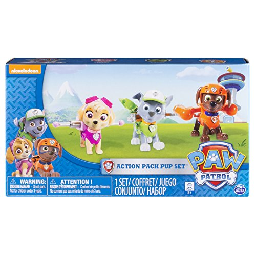 Paw Patrol Action Pack Pups Figure Set, 3pk,