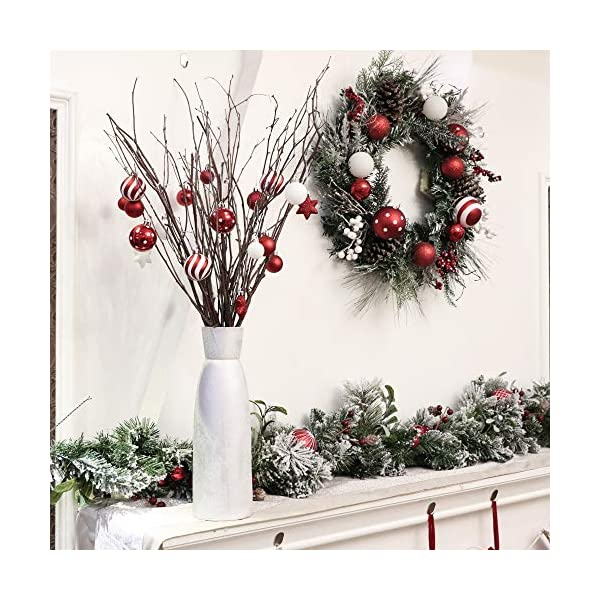 Victor's Workshop Addobbi Natalizi 35 Pezzi 5cm Palle di Natale, Oh Deer Red e White Shatterproof Christmas Ball Ornaments Decoration for Christmas Tree Decor 5 spesavip