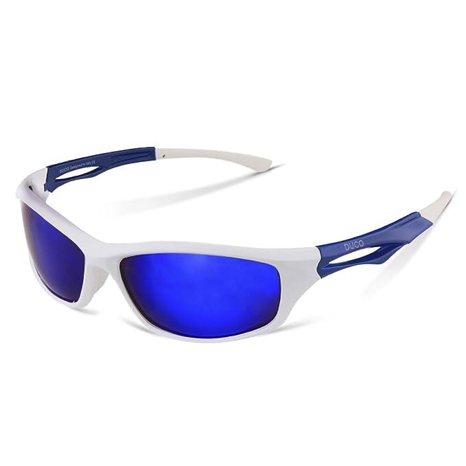 Duco Gafas Polarizadas Deportivas para Correr Ciclismo Pescar o Jugar Golf Marco Irrompible TR90 6199 (