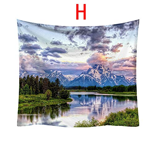 Loneflash Halloween Tapestry, Nature Landscape Hippie Bedspread Fashion Tapestry Pattern Fresh Style Decorative Tapestry Home Decor Wall Art for Living Room, Bedroom, Dorm (H) ()