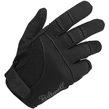 Biltwell Moto Gloves Black//Red, Large