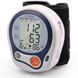 "LotFancy Wrist Blood Pressure Monitor Cuff, Digital BP Monitor, Adjustable Wrist BP Cuff (5""-8""), 60 Memory for User, Digital Sphygmomanometer for Irregular Heartbeat Detection, Portable Case Included"