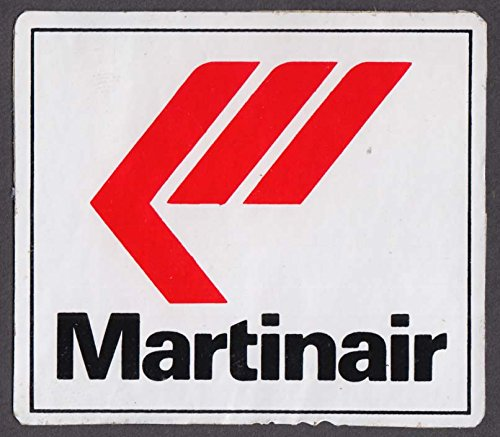 Martinair airline baggage sticker 1980s ()