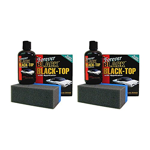 Forever Car Care Products FB813 BLACK Black Top Gel and Foam Applicator (2 PACK) (Black Convertible Top Cleaner)