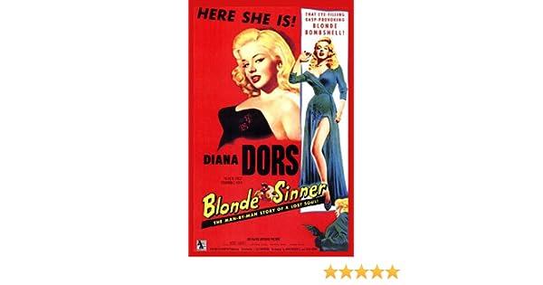 Blonde Sinner Diana Dors Movie Poster Print 1950s New