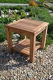 Malmesbury - Solid Teak - 45cm Square Coffee Table with Shelf