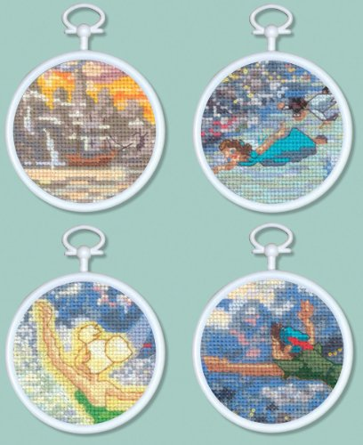 Peter Pan Mini Vignettes Counted Cross Stitch Kit 1 pcs sku# 1184624MA (Peter Pan Cross Stitch compare prices)