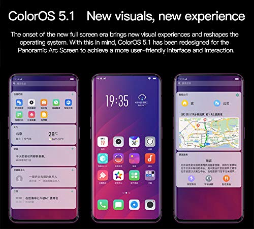 Original OPPO Find X FindX 128GB 8GB Smartphone Dual SIM 6 42'' Full Screen  Octa Core LTE Dual 16 MP+20 MP Camera 3730 mAh Support Google By-(REAL