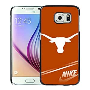 Hot Sale Samsung Galaxy S6 Case ,NCAA Big 12 Conference Big12 Football Texas Longhorns 3 Black Samsung Galaxy S6 Cover Unique And Beautiful Designed Phone Case
