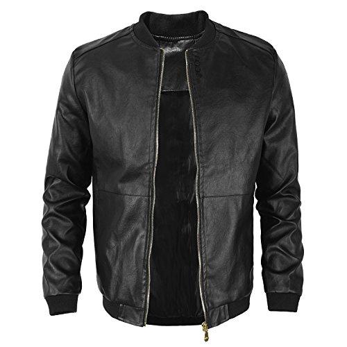 - TAIPOVE Men BigBoy Casual Slim-Fit Faux Leather Jacket Blazer Windbreaker Waterproof