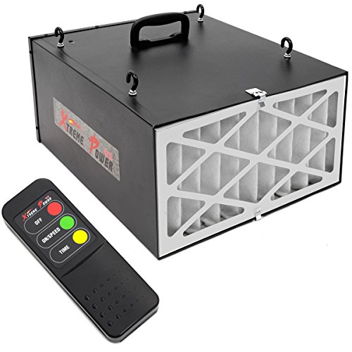 XtremepowerUS 3-Speed Remote Controlled Air Filtration System Programmable Timer (300/350/400 CFM) -Black