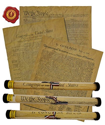 Documents Of Freedom Bundle  Full Size Declaration Of Independence  United States Constitution And The Bill Of Rights