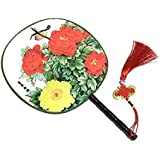 Attractive Chinese Round Fan Classical Dancing Dan With Beautiful Pattern, #6