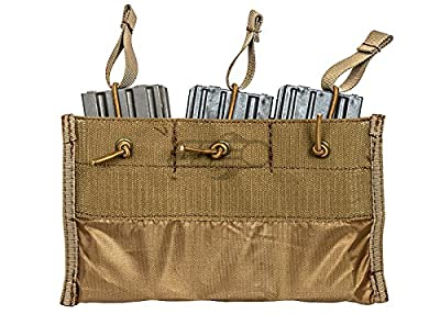 Lancer Tactical Triple Kangaroo M4/M16 Magazine Pouch (Tan)