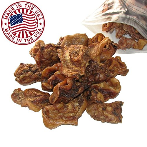 Cheap Sliced Pig Ears for Dogs, 1.5 lb bag (1 Pack) – Bulk Dog Dental Treats & Pork Chews, Made in USA, American Made