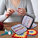 Damero Crochet Hook Case, Organizer Zipper Bag with