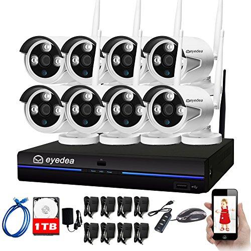 eyedea 8 CH 960P WiFi NVR Wireless Camera Surveillance DVR Double