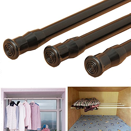 Shower Curtains & Rods - Extendable Adjustable Spring Tension Window Curtain Rod Pole Telescopic Pole Shower Curtain Rod - Drapery Drape Perch Pall Gat Mantle Retinal - 1PCs