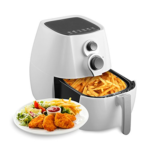 KUPPET Air Fryer-Hot Air/Deep Fryer with Basket/Rapid Air Technology For Less or No Oil/Timer & Temperature Control/8 Cooking Presets/Included Recipe,Steamer,Fryer Pan 1350W (4.76QT, (Best Air Fryer No Oil)