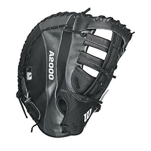Wilson A2000 1st Base Baseball Glove Black Gun Metal Grey