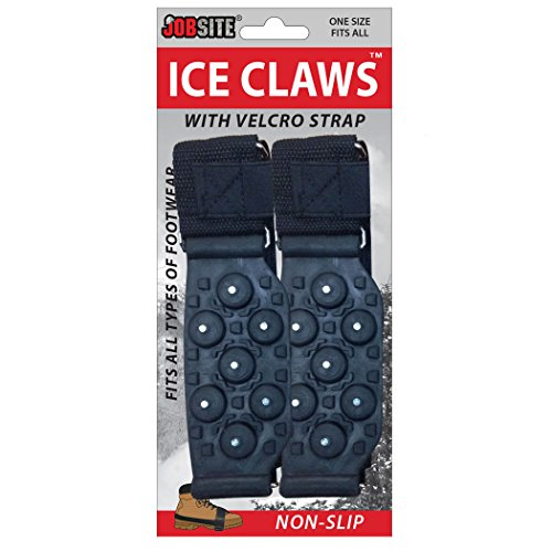 Price comparison product image JobSite Ice Claws Snow & Ice Traction Cleats - Lightweight No-Slip Studded Grips Prevent Slipping on Snow & Ice - Fits All Shoe & Boot Styles