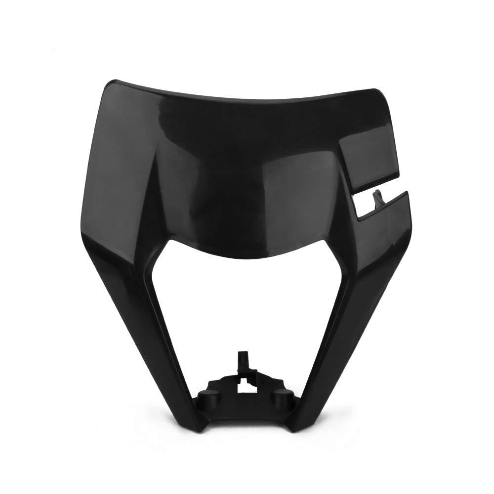 JFG RACING Moto Masque de Phare Lampe Frontale Coque Abat-Jour pour KTM 125/150/250/300/350/450/500/EXC XCW Exc-f 2017/2018/Dirt Bike Enduro Motocross Supermotor