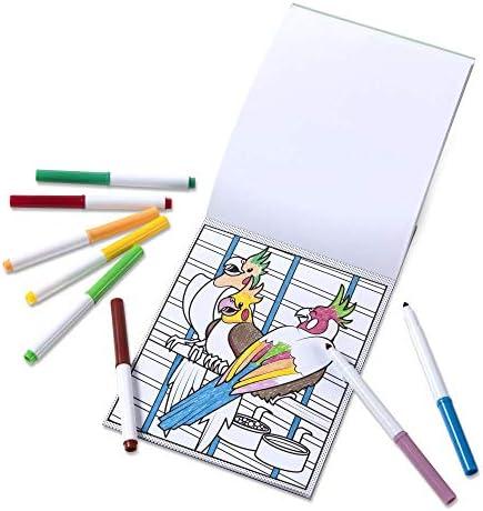 Melissa & Doug Patrón Mágico de Mascotas Bloc para Colorear con marcadores, para Actividades de Viaje de niños Activity Book 6