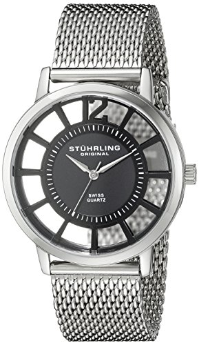 Stuhrling Original Men's 388M.02 Winchester Del Sol Elite Swiss Quartz Stainless Steel Mesh Bracelet Watch