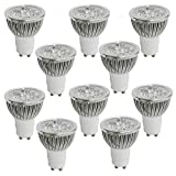 RC 10-Pack 4W GU10 LED 2700K Soft White GU10 Light Bulbs 50 Watt Incandescent Equivalent,GU10 LED Bulb for Recessed Lighting,non-Dimmable