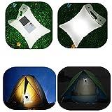 Inflatable Solar Light, SOLMORE LED Solar Lantern Lamp Camping Light Portable Foldable Lamp Waterproof Outdoor Lamp for Trekking Travel Hiking Emergency Kit Garden Swimming Pool Decoration Lighting