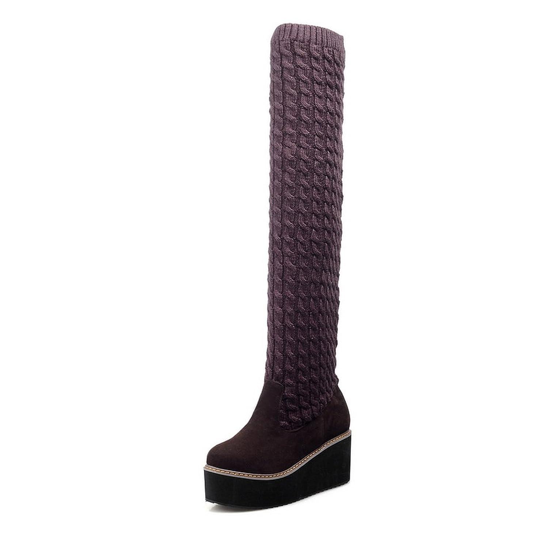 AdeeSu Womens Platform Slip-Resistant Casual Suede Boots SXC02157