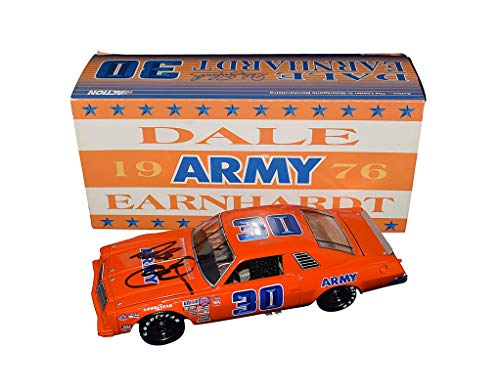 AUTOGRAPHED 1976 Dale Earnhardt Sr. #30 ARMY Monte Carlo Team (Winston Cup Series Racing) Vintage Extremely Rare Signed Action 1/24 NASCAR Collectible Diecast Car with COA from Trackside Autographs