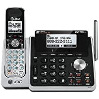 AT&T (80-8661-00) DECT 6.0 Expandable Digital 2-Line Cordless Phone With Dual Caller ID, Answering System and Dial in Base Speakerphone