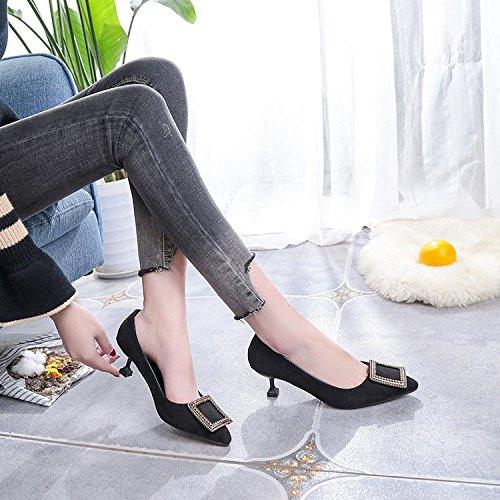Lovely Xue Qiqi Punta fina con zapatos de mujer 70ee64d36a54