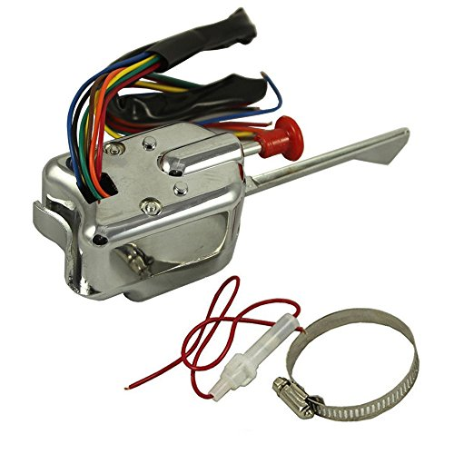 - 12V Universal Chrome Street Hot Rod Turn Signal Switch For FORD GM BUICK