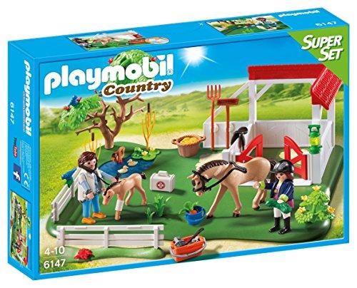 Pony Farm Playmobil - PLAYMOBIL Horse Paddock SuperSet Building Kit