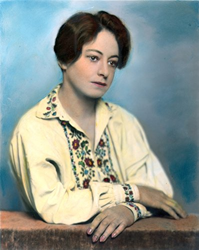 Posterazzi Dorothy Parker (1893-1967). /Namerican Writer: Oil Over A Photograph 1928. Poster Print by (18 x 24)