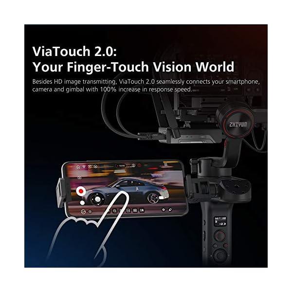 Zhiyun WEEBILL S Stabilizzatore Gimbal Palmare A 3 Assi Per Fotocamere Mirrorless, Smartphone, Motore Migliorato Del 300% Rispetto A Zhiyun Weebill Lab, Supporto Massimo 3 Kg (Pacchetto Standard) 4 spesavip