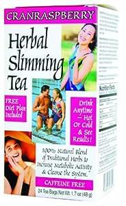 21st Century Slimming Tea, Cran Raspberry, 24 Count (Pack of 3)
