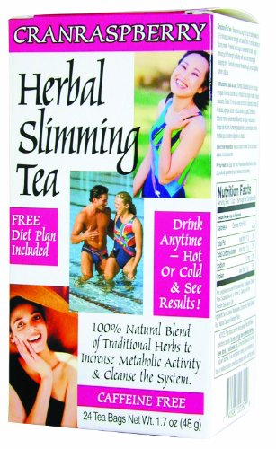 (21st Century Slimming Tea, Cran Raspberry, 24 Count (Pack of 3))