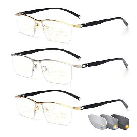 Gafas de Lectura fotocromáticas para Hombre, Montura de ...