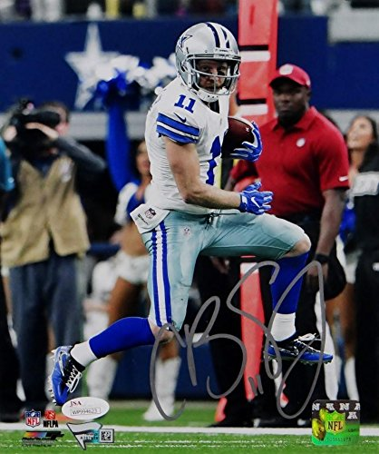 a9252b350 Cole Beasley Signed Autograph Cowboys 8x10 Photo Down Sideline Pf Photo- JSA  Certified Fanatics Auth