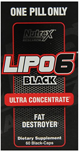 Nutrex Research Lipo 6 Black Ultra Capsules de supplément concentré Diet, 60 comte